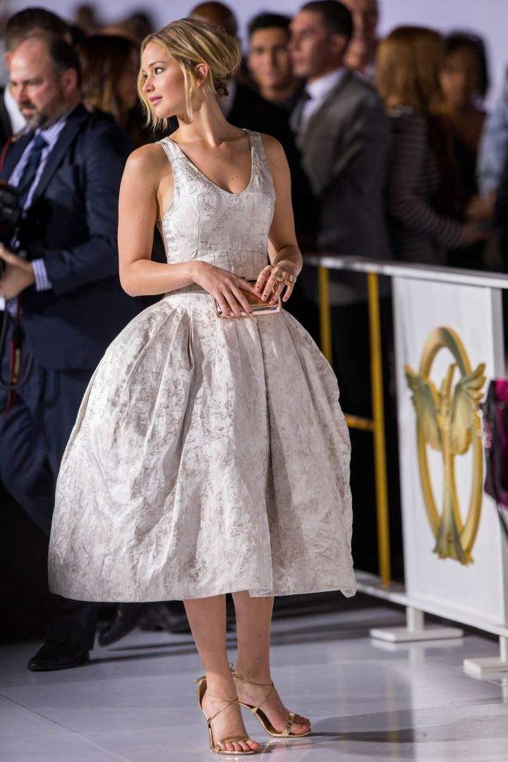 Jennifer Lawrence attends the premiere of Lionsgate's 'The Hunger Games: Mockingjay – Part 1' at Nokia Theatre L.A.
