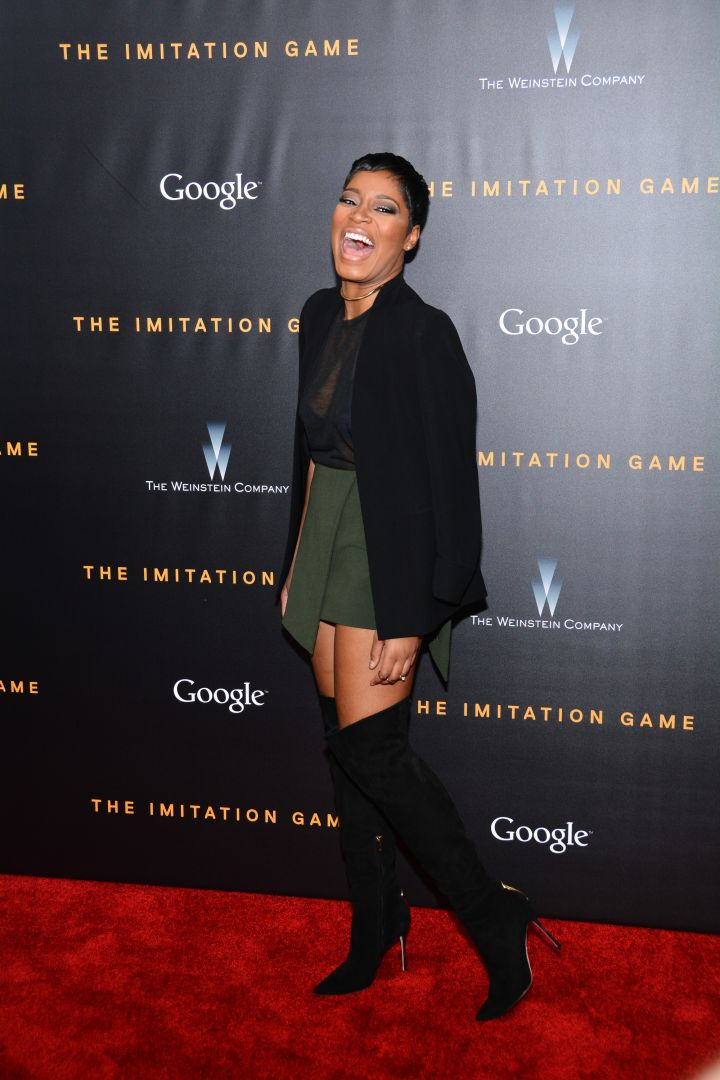 Keke Palmer wows on the carpet for 'The Imitation Game' New York premiere at Ziegfeld Theater.