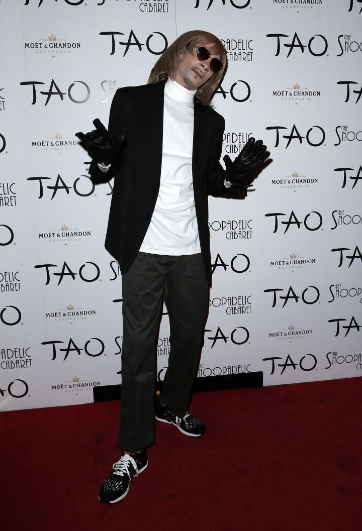 Snoop Dogg went as his white alter ego Todd in Vegas.