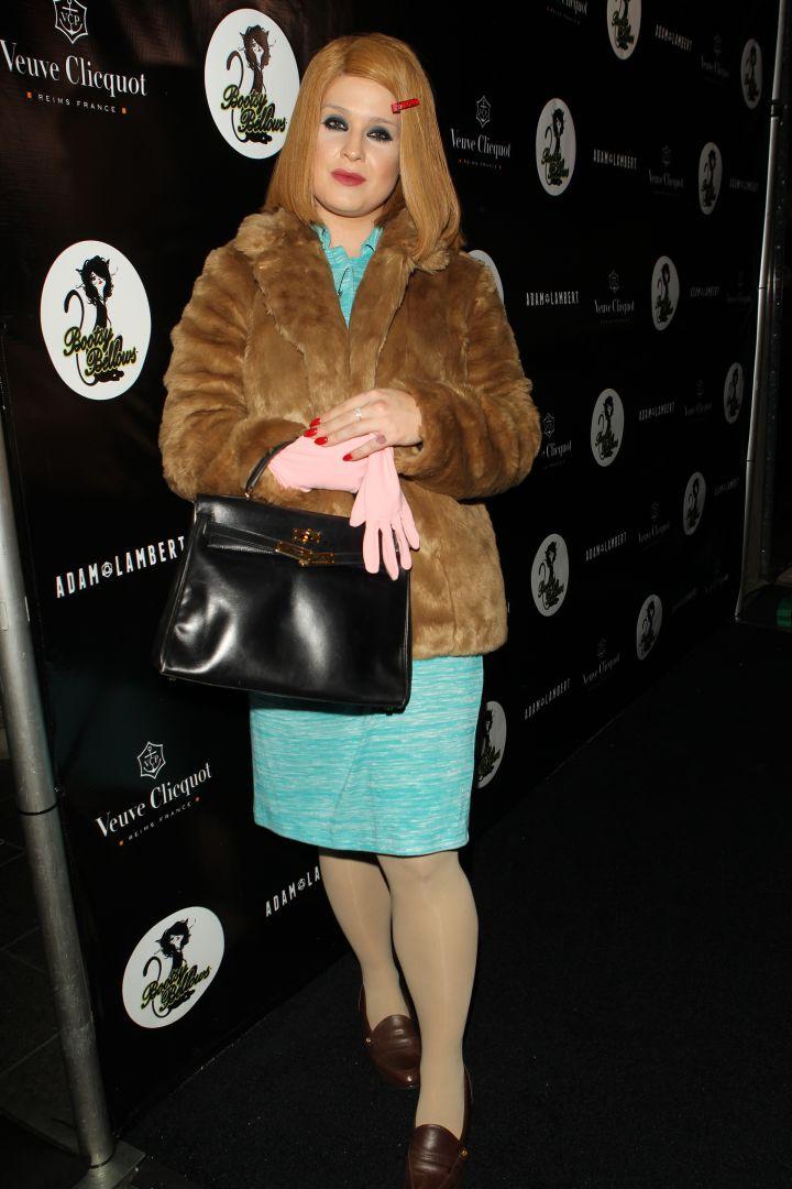 Kelly Osbourne gets creative for her costume.