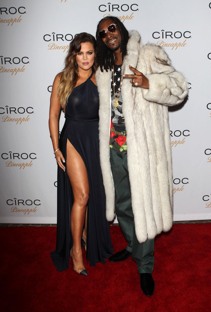 Khloe Kardashian poses it up with Snoop Dogg.