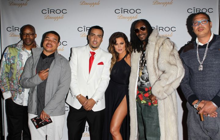 Khloe, French, Snoop Dogg, and more pose it up on the carpet.