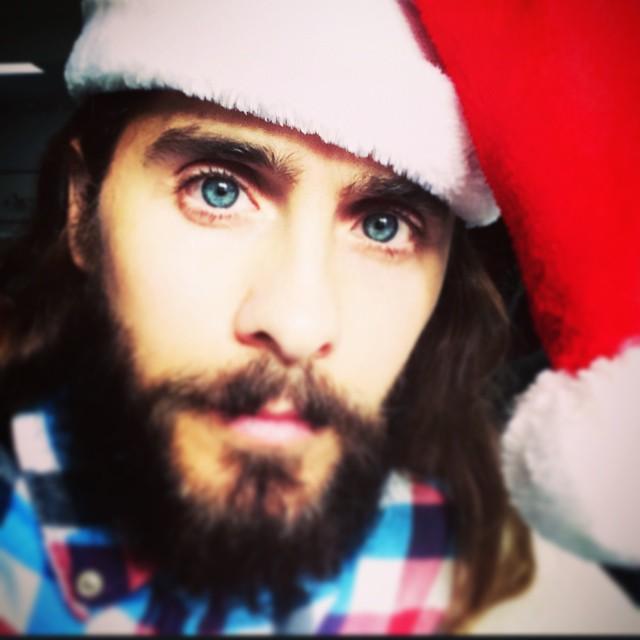 Who's a hotter Santa than Jared Leto? Seriously.