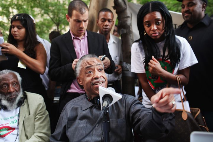 Al Sharpton always gets his voice out to the masses during times of protest.