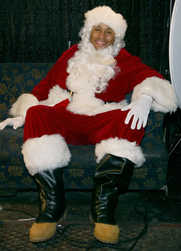 LL Cool J is probably the only Santa whose lip licking we don't mind.