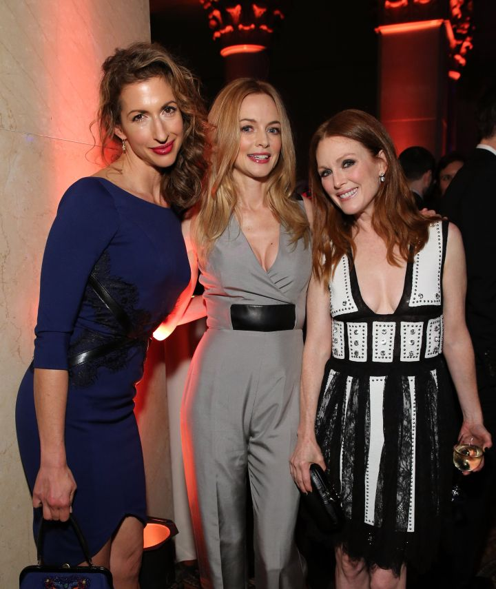 Alysia Reiner, Heather Graham, and Julianne Moore strike a pose at the IFP's 24th Gotham Independent Film Awards at Cipriani, Wall Street.