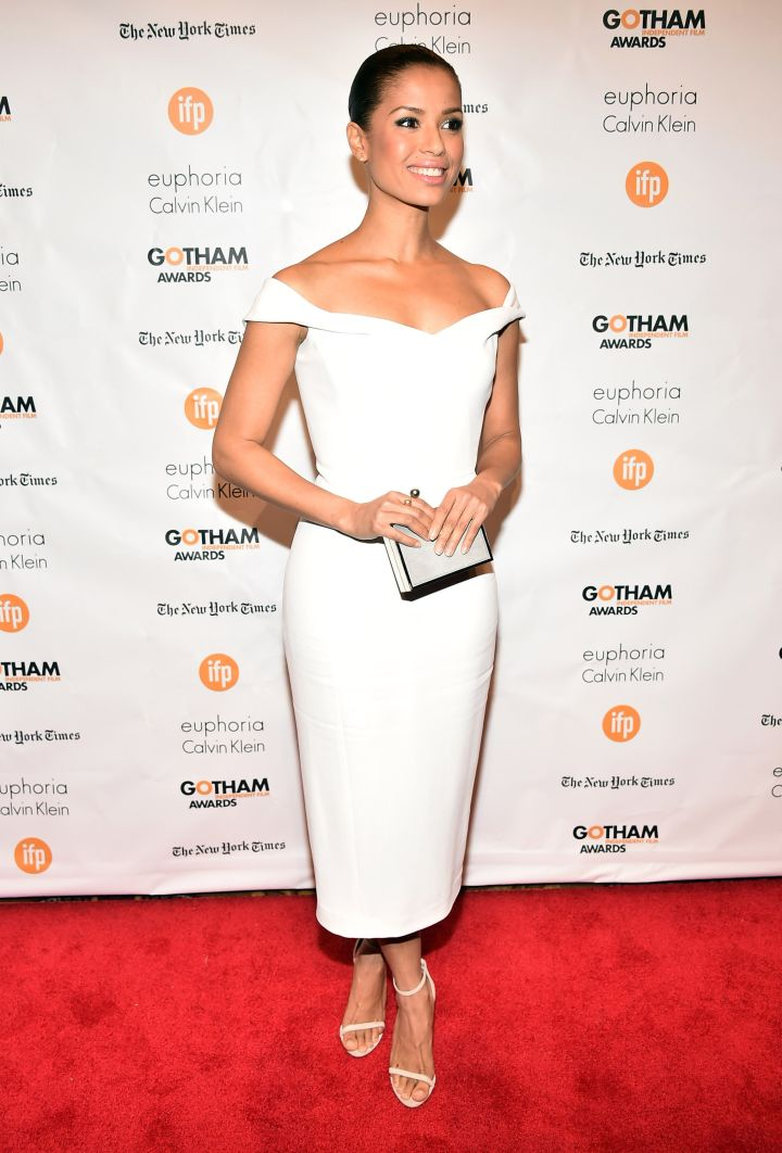 Gugu Mbatha-Raw looks stunning at the IFP's 24th Gotham Independent Film Awards at Cipriani, Wall Street – even though she was caught off guard.