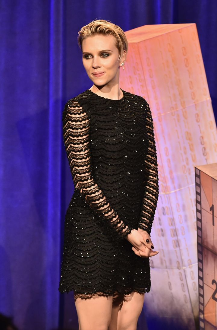 Scarlett Johansson speaks onstage during IFP's 24th Gotham Independent Film Awards at Cipriani Wall Street.