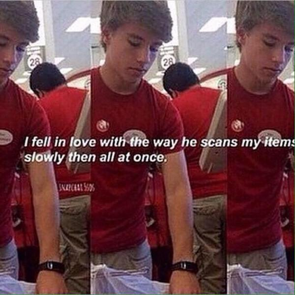 Alex from Target made all the girls swoon.