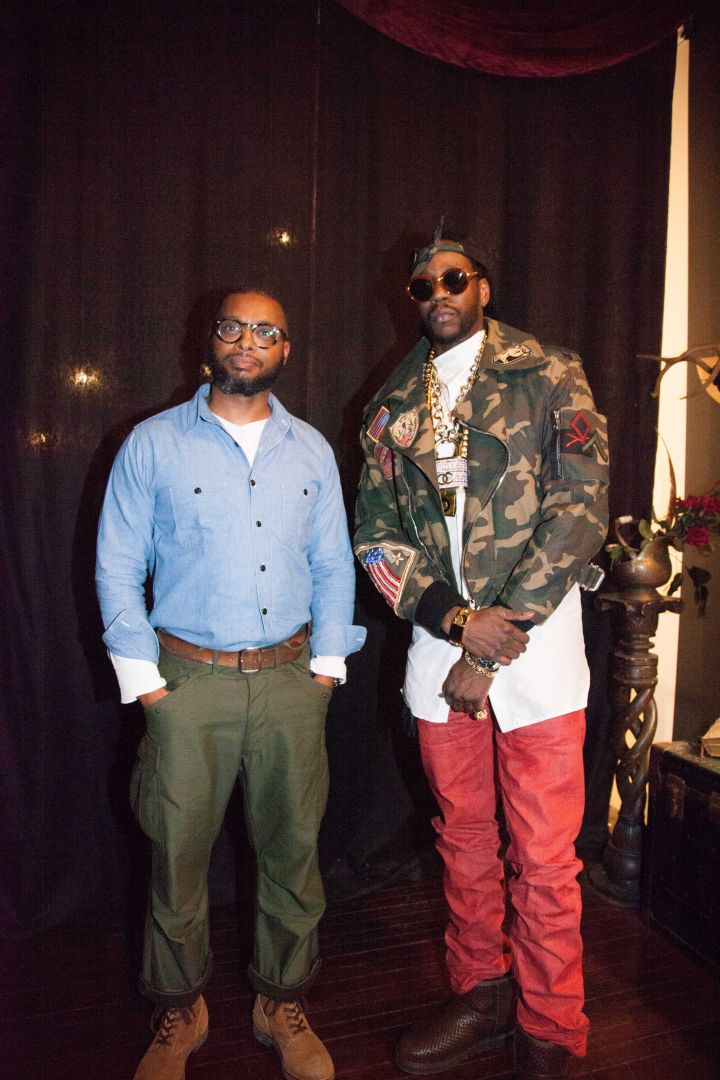 2 Chainz and PRPS Founder Donwan Harrell.
