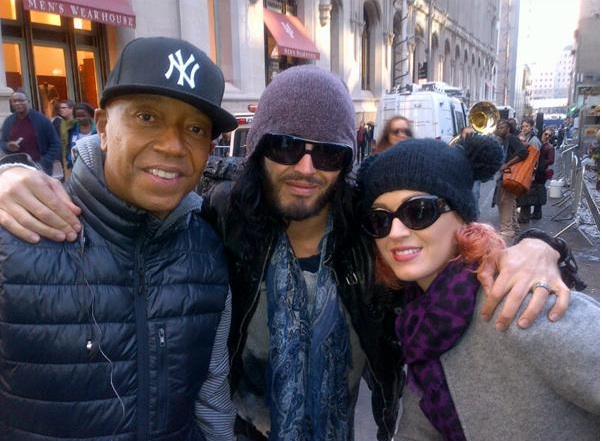 Russell Simmons was joined by Katy Perry and Russell Brand during OWS.