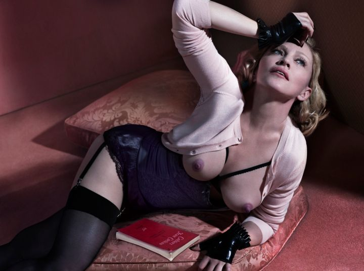 Madonna freed her nipples for Interview Magazine.
