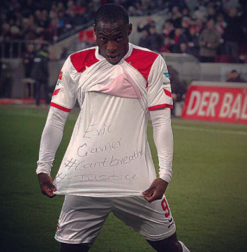 Soccer player Anthony Ujah showed his support for Eric Garner after scoring a goal.