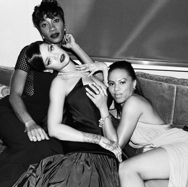 Rihanna has an amazing time with friends and family at her first-ever Diamond Ball.