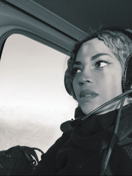 Beyonce shows off her ***flawless look while cruising in a chopper.