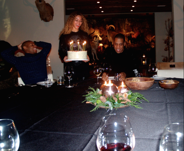 Check out the huge smile on Jay's face during his 45th birthday dinner!