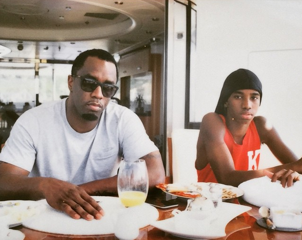 Diddy spends some time with his mini-me Christian Combs.