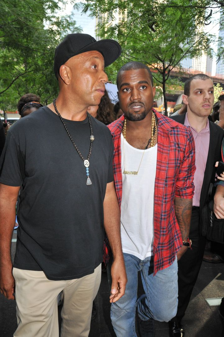 Kanye West joined Russell Simmons for the Occupy Wall Street protests.