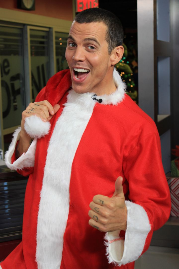 Steve-O went from naughty badass to Mr. Claus himself.