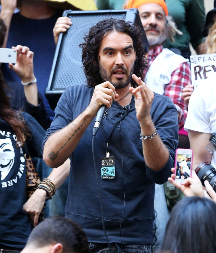 Russell Brand joined the Occupy Wall Street protests.