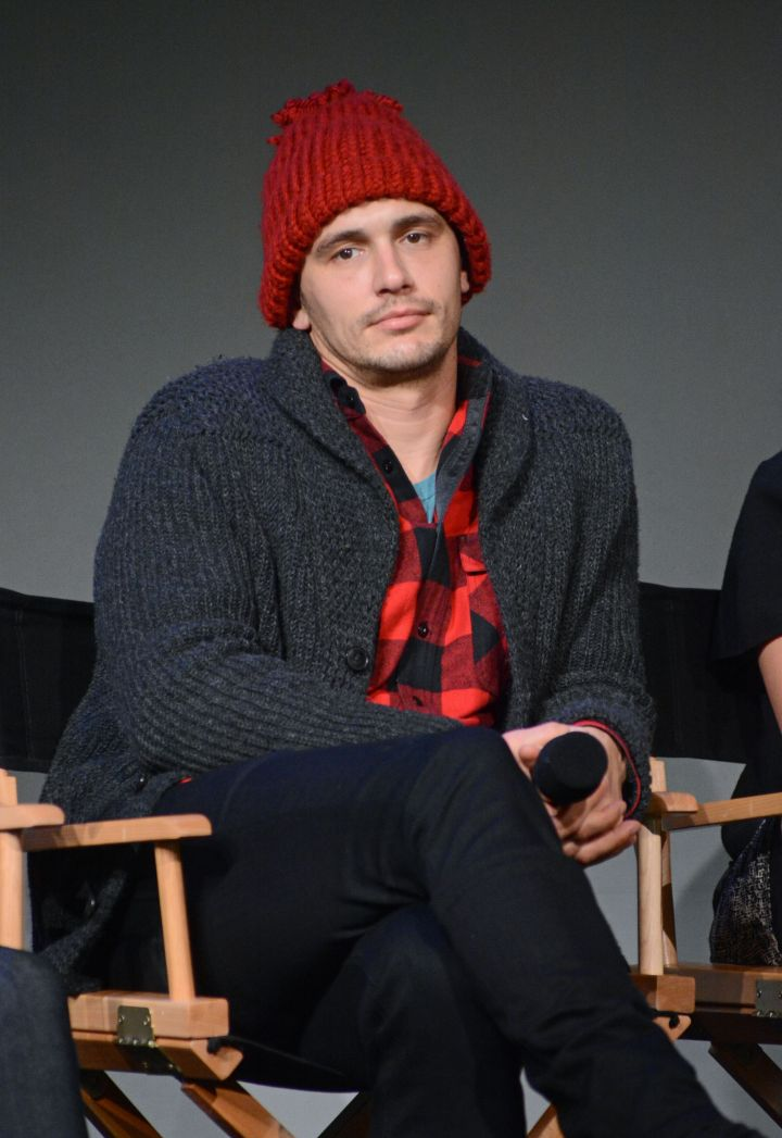 "James Franco made an appearance at the Apple Store in SoHo, NYC for Meet the Filmmakers: ""The Color of Time."""