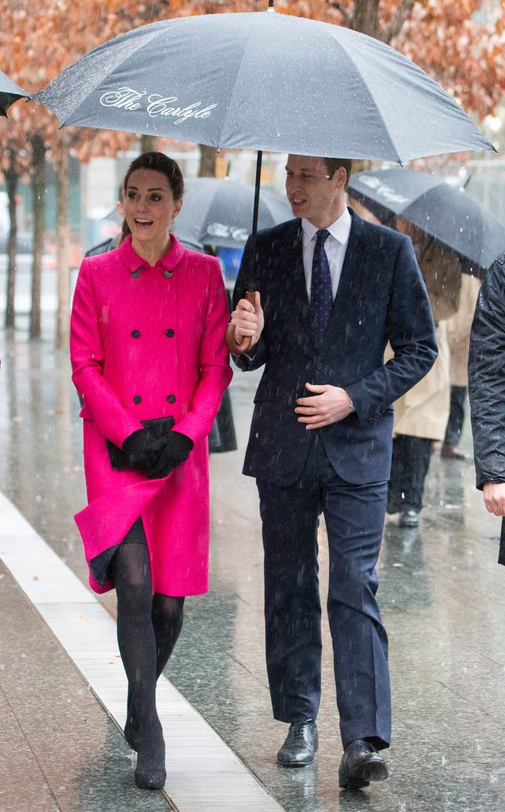 The Duke and Duchess of Cambridge braved the rain to visit the National September 11 Memorial Museum in New York.