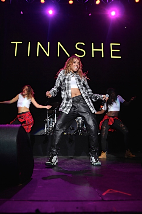 Tinashe gets '2 On' at Power 106 Cali Christmas concert in Inglewood.