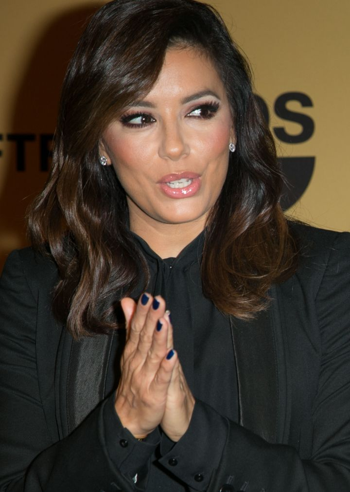 Eva Longoria looked flawless as she addressed the crowd at nominations for the 21st Annual Screen Actors Guild Awards.