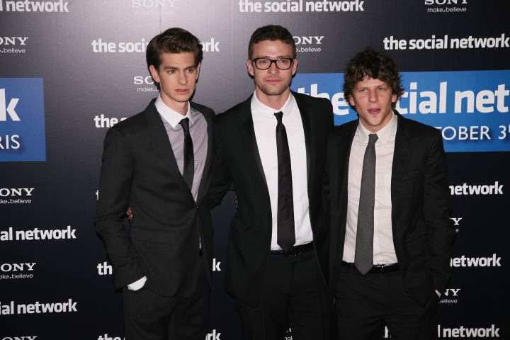 """He then took another break from his music and focused on acting, starring in """"The Social Network"""" with Andrew Garfield and Jessie Eisenberg."""