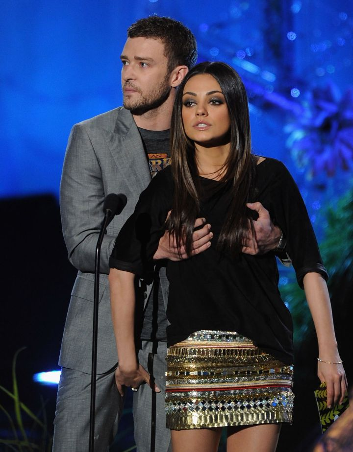 """The co-stars were so much like """"brother and sister"""" that this boob/crotch grab happened at the 2011 VMAs."""