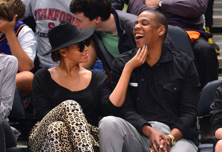 Bey's got lots of adorable courtside moments.