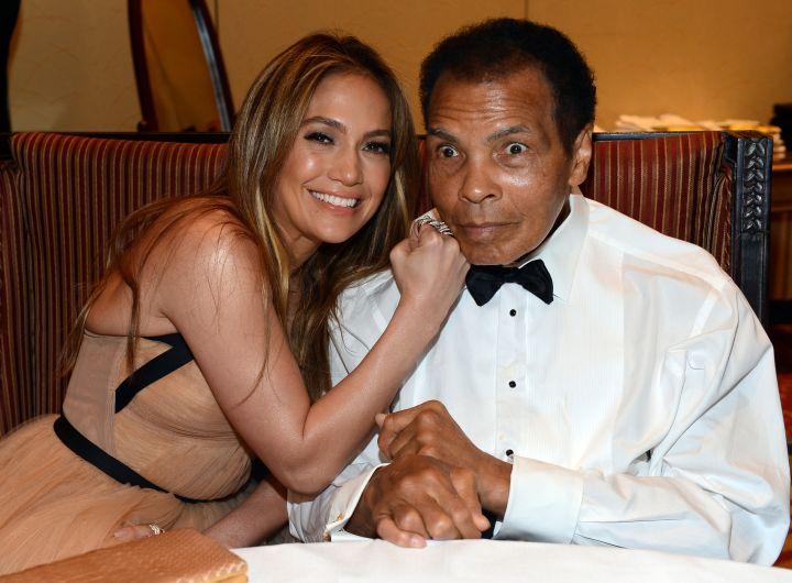 Jennifer Lopez and Muhammad Ali.