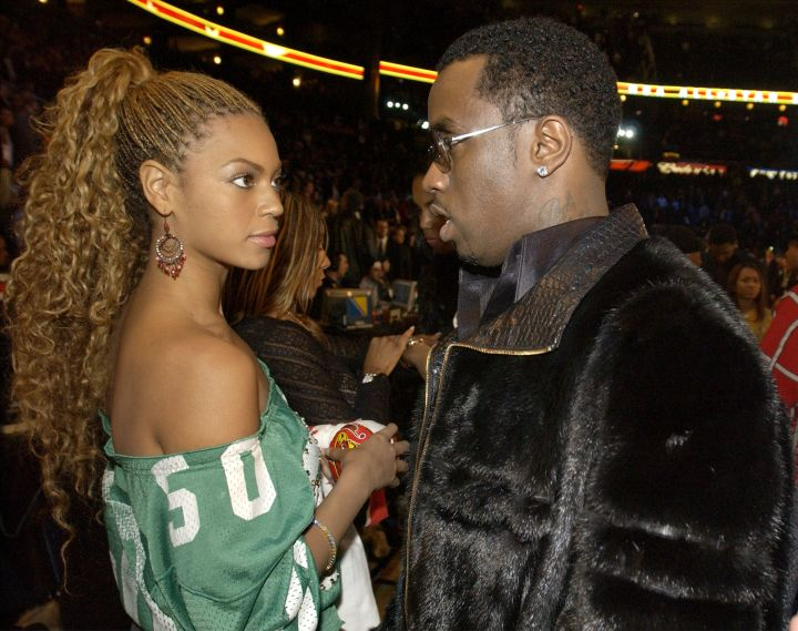 Bey was so not feeling Diddy at the 2003 NBA All Star game.