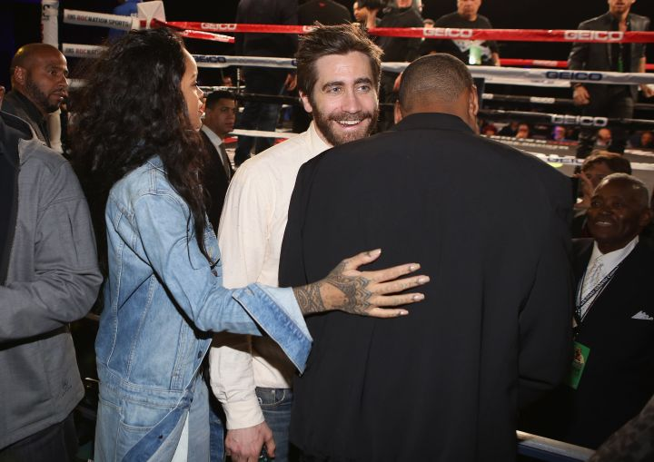 Rihanna, Jake Gyllenhaal, and Jay Z share a precious moment.