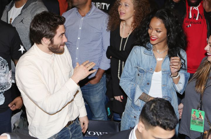 Jake Gyllenhaal has some fun with RiRi.
