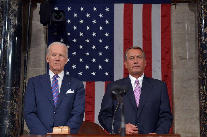 Biden's resting happy face.