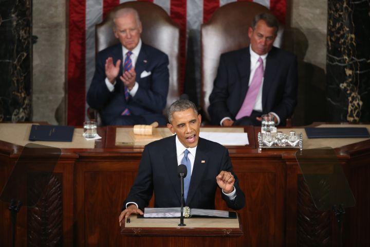 Biden is pleased with Obama's speech. Boehner, not so much.