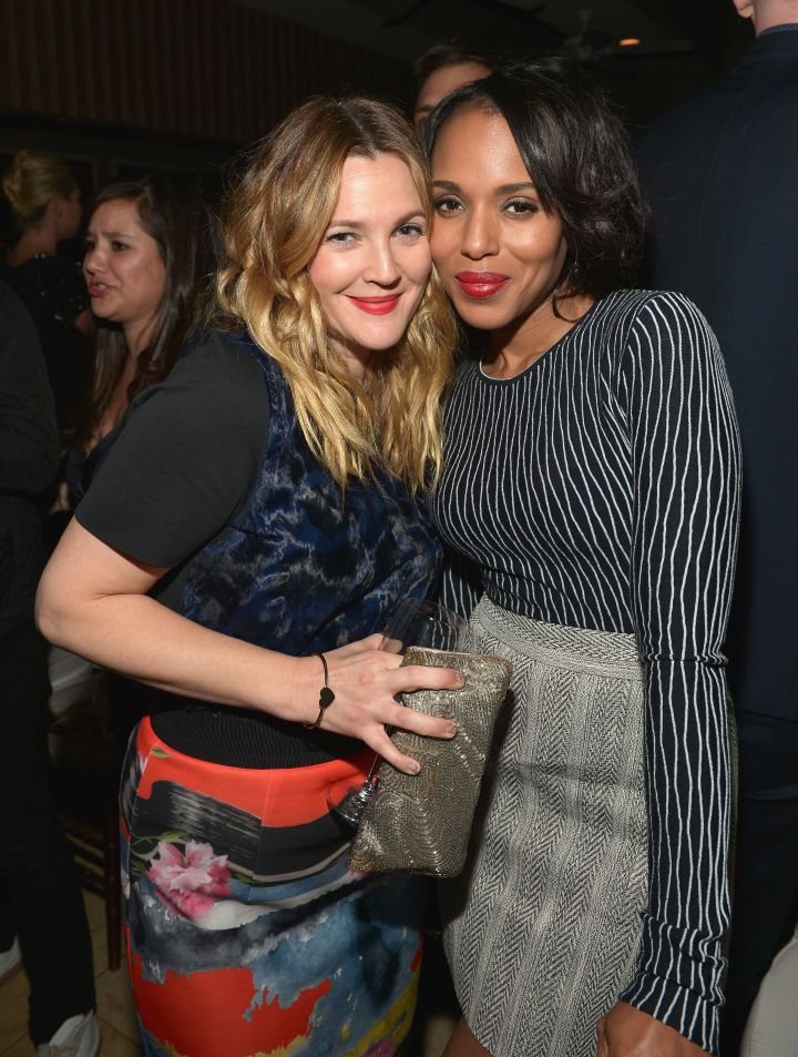 Kerry Washington and Drew Barrymore made it a mommies' night out.