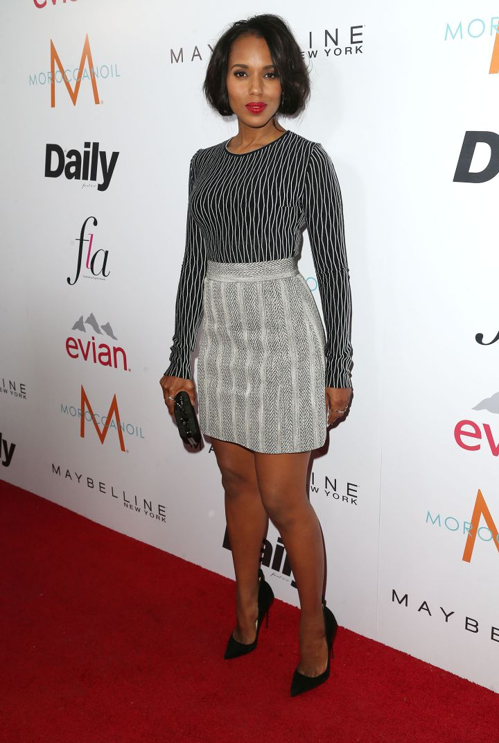 Kerry Washington showed off her toned legs in a cute mini.