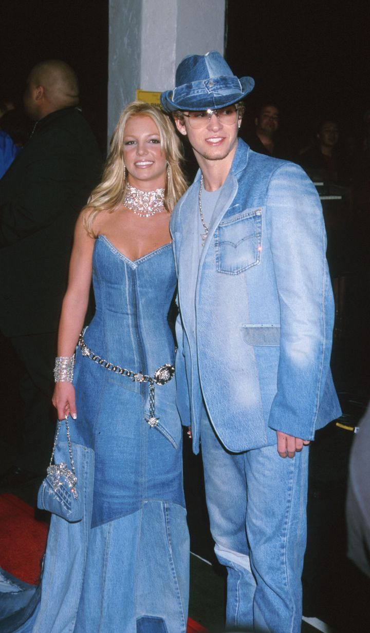 He went on to date Britney Spears and this outfit happened at the 2001 VMAs.