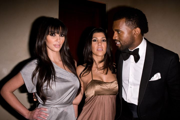 The time Yeezy gave his future wifey the glare.