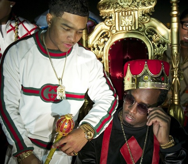 Justin Combs and Diddy