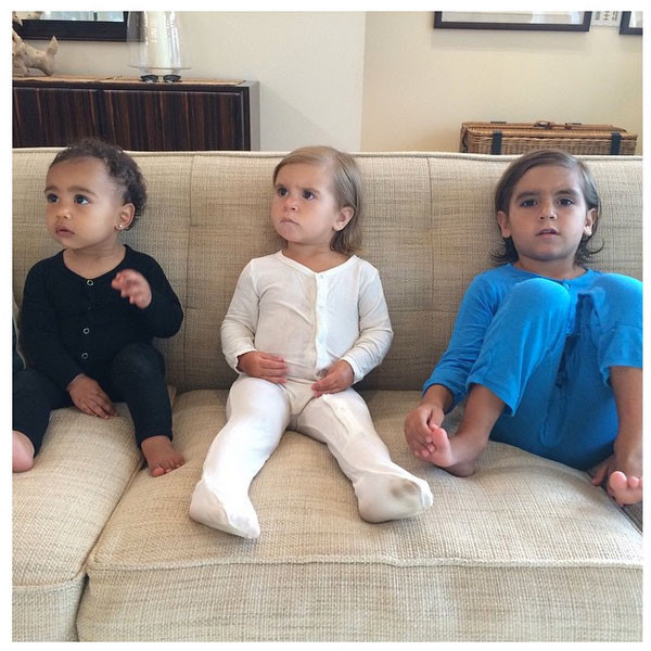 North West & Penelope and Mason Disick