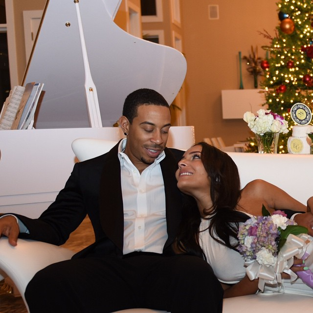 Ludacris proposed and married his longtime girlfriend Eudoxie all on the same day.