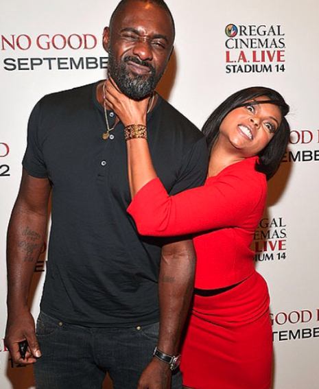 Because she got a chance to do this to Idris Elba. It's not fair, but that's our girl, so we're happy for her.