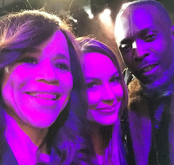 Angie Martinez posted this photo with Michael K. Williams.