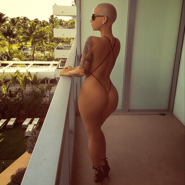 Amber Rose shows off her flawless booty in Miami.