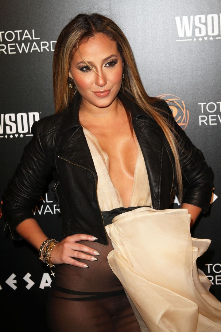 Adrienne Bailon has a wardrobe malfunction at The Escape To Total Awards Event in NYC.