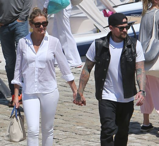 Cameron Diaz and Benji Madden spotted on holiday together in the South of France