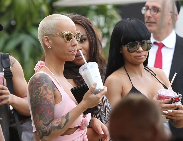 Amber Rose and Blac Chyna have some fun in the sun on Miami Beach.